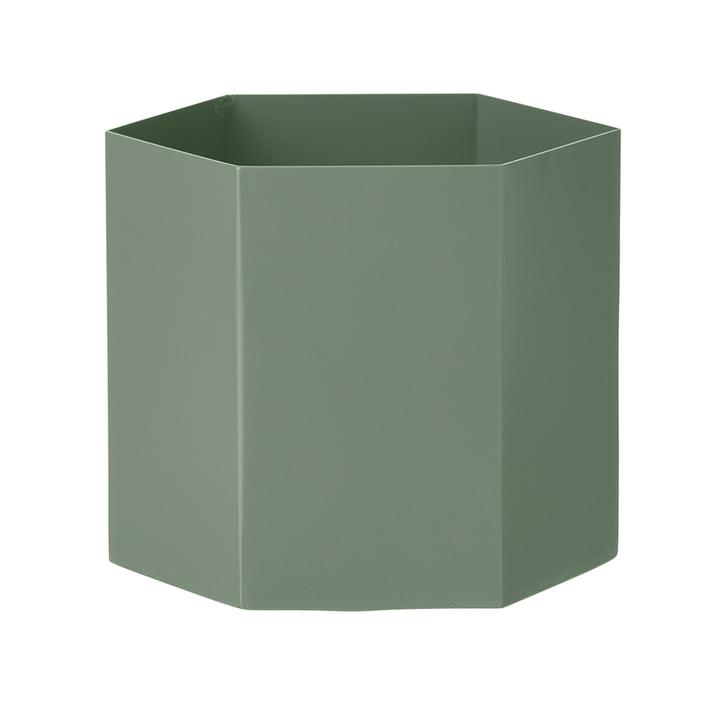 Hexagon Topf X-Large von ferm Living in Dusty Green