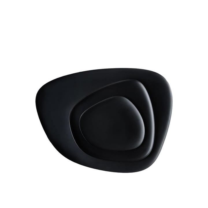 Namasté Tablett Set von Kartell in Schwarz