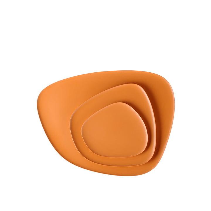Namasté Tablett Set von Kartell in Orange