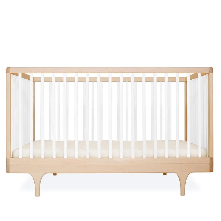 Babybett Caravan Crib von Kalon aus Ahorn in Weiß