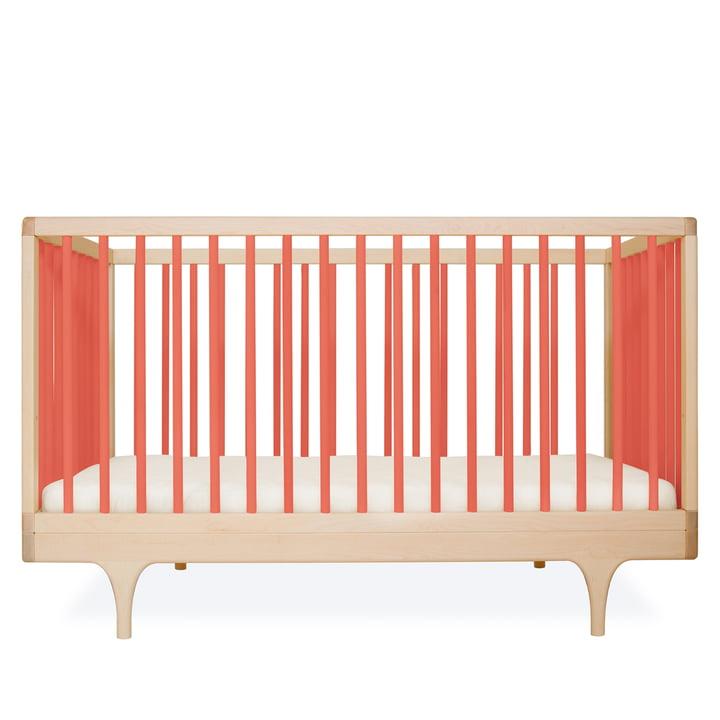 Babybett Caravan Crib von Kalon aus Ahorn in Orange