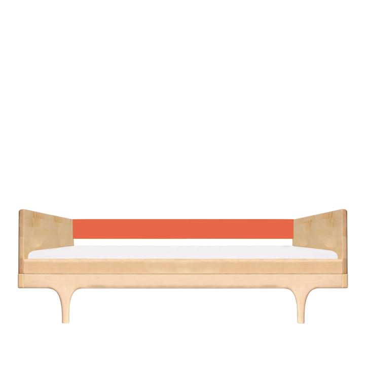 Juniorbett Caravan Divan von Kalon aus Ahorn in Rot