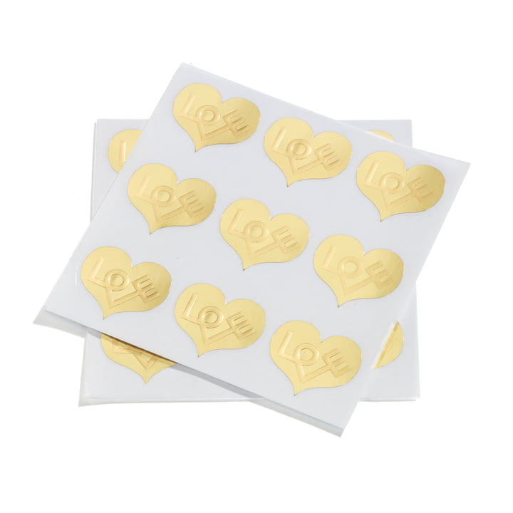 Sticker Love Heart von Vitra in Gold