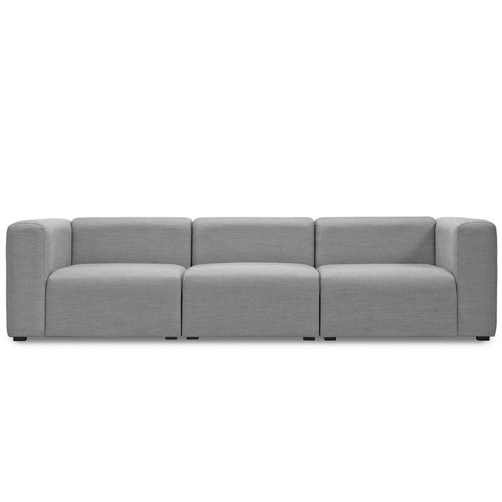 Mags Sofa 3-Sitzer, Kombination 1 von Hay in Hellgrau (Surface 120)