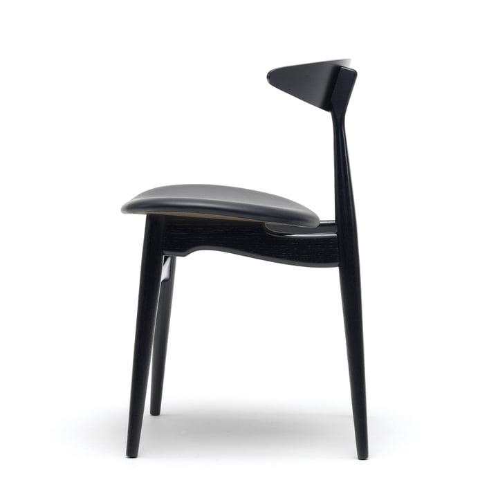 Carl Hansen - CH33P, Buche schwarz lackiert / Leder schwarz (Loke 7150) / Gestell: Buche schwarz lackiert