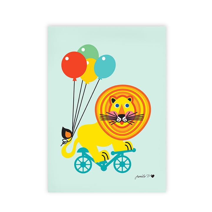 Kunstdruck Zirkus Löwe von byGraziela