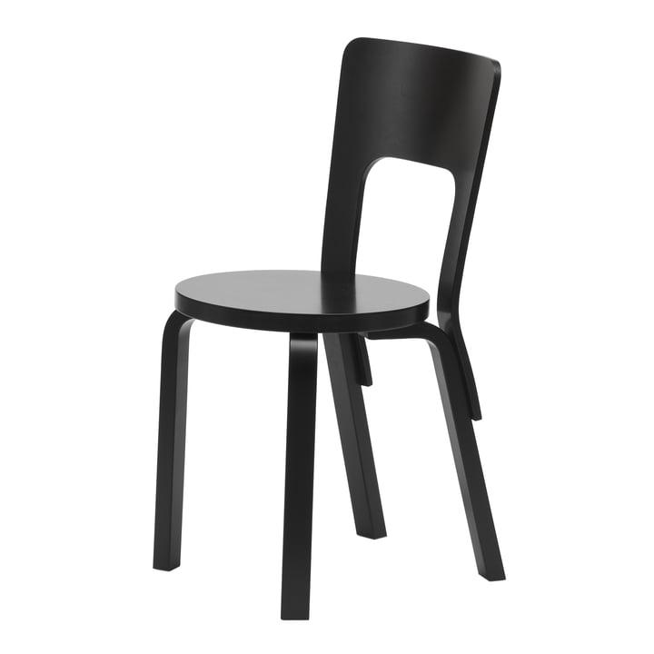 Stuhl 66 von Artek in schwarz