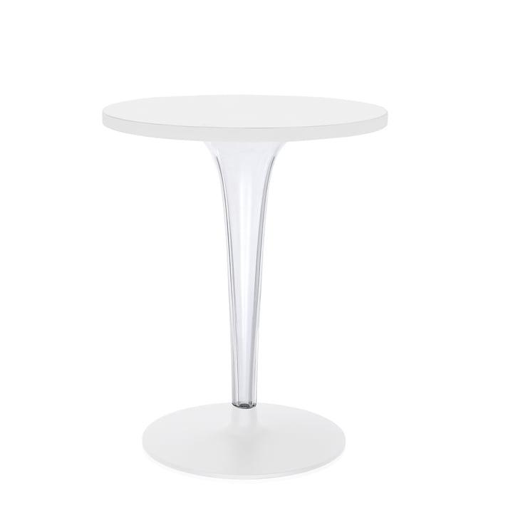 Top Top Tisch rund von Kartell in Weiß matt