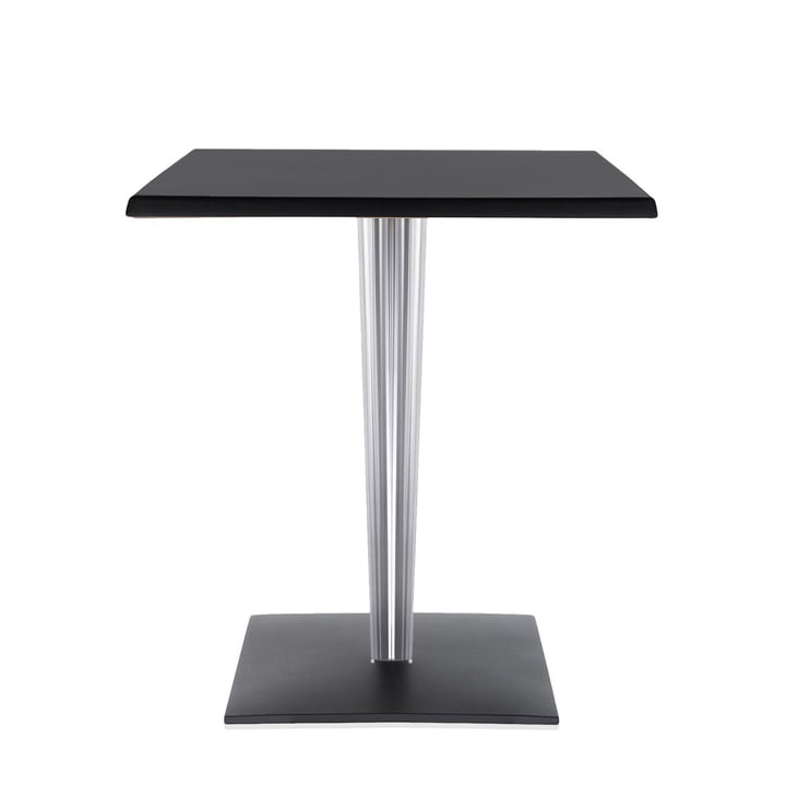 Top Top Tisch 60 x 60 von Kartell in Schwarz