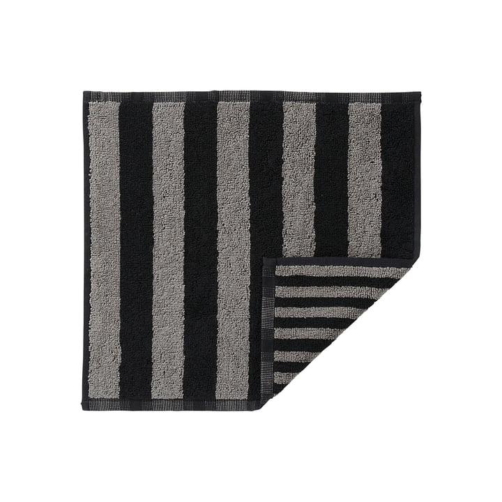 Marimekko - Kaksi Raitaa Mini-Handtuch 30 x 30 cm, grau / schwarz
