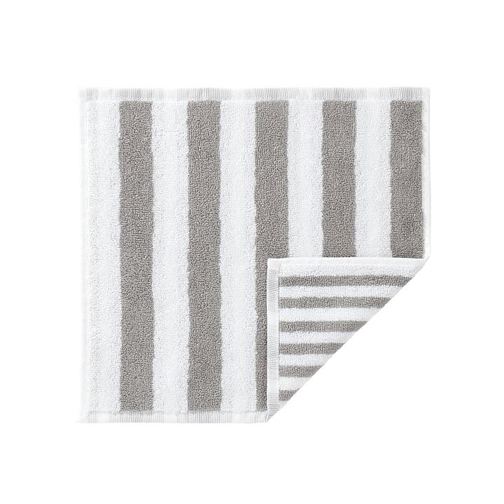 Marimekko - Kaksi Raitaa Mini-Handtuch, weiß / grau 30 x 30 cm