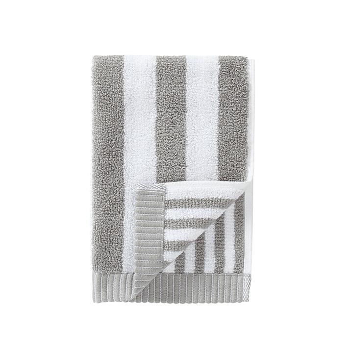 Marimekko - Kaksi Raitaa Gästehandtuch 30 x 50 cm, grau / weiß