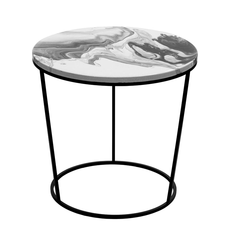 Chiara Beistelltisch Large von Pulpo in Weiß und Schwarz
