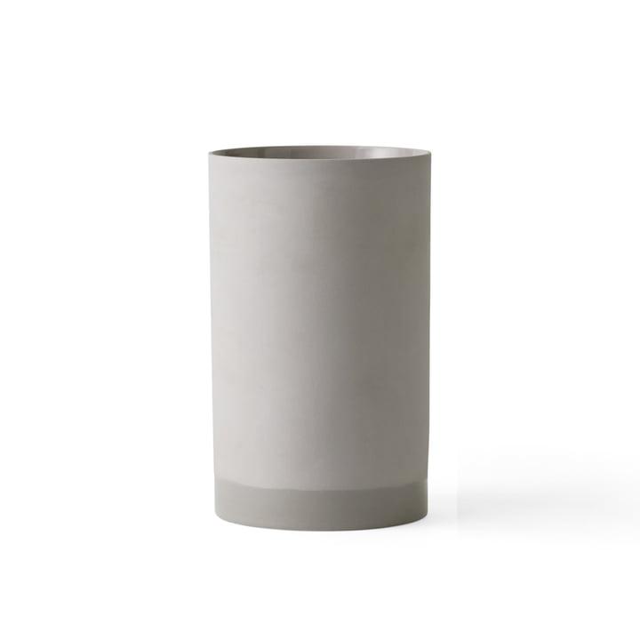 Die Cylindrical Vase L von Menu in grau