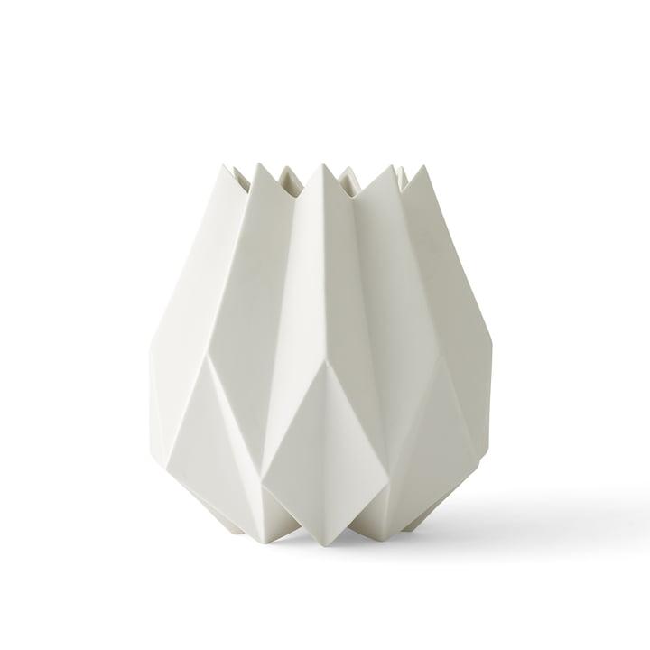 Die Folded Vase tall von Menu in weiß
