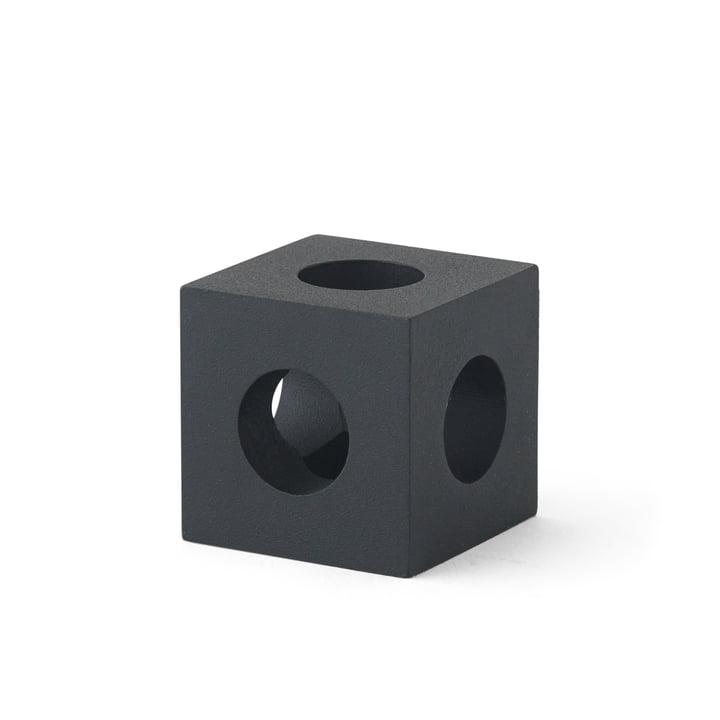 Der Cube Kerzenhalter von Menu in schwarz