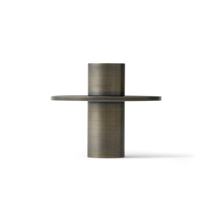 Der Antipode Kerzenhalter 01 von Menu in Messing gebräunt