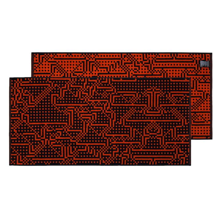 Route Black and Red / Orange Handtuch 50 × 100 cm von Zuzunaga