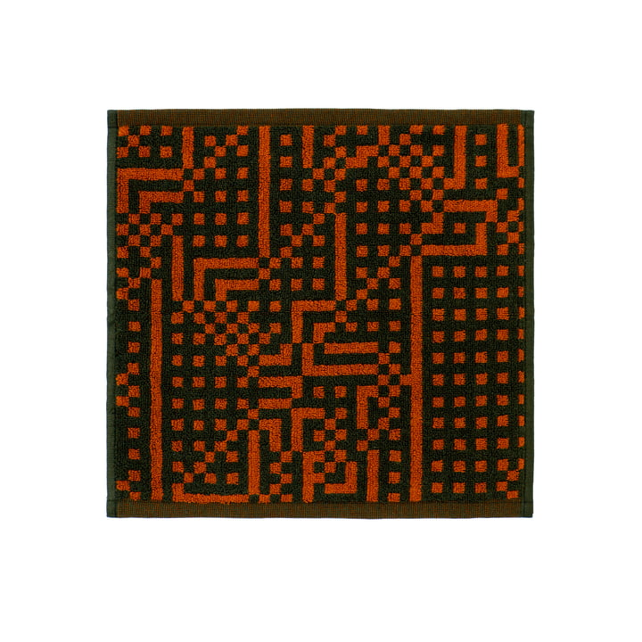 Route Black and Red / Orange Gesichtstuch 30 x 30 cm von Zuzunaga