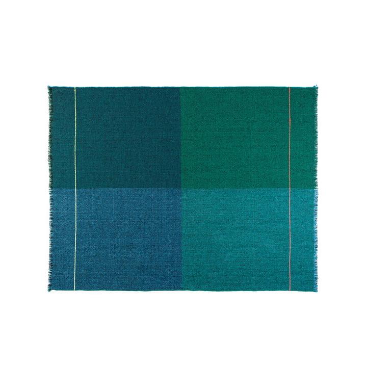 Quaternio Blue Wolldecke 140 × 180 cm von Zuzunaga