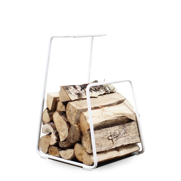 Log Wood Basket im Kontrast