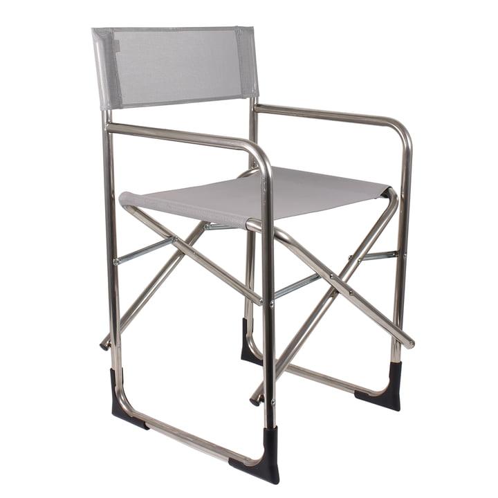Der Regie Aluminium Sessel in grau von Fiam