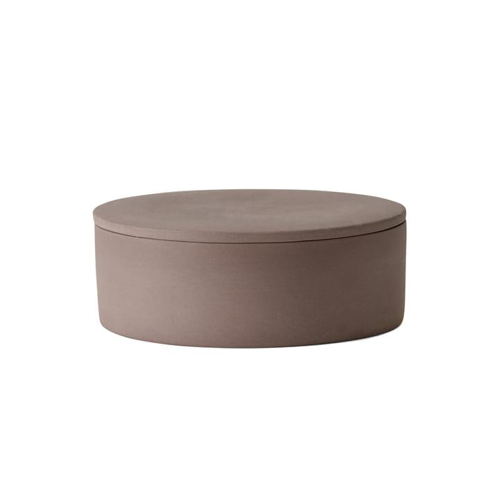 Der Cylindrical Container mit Deckel von Menu in taupe