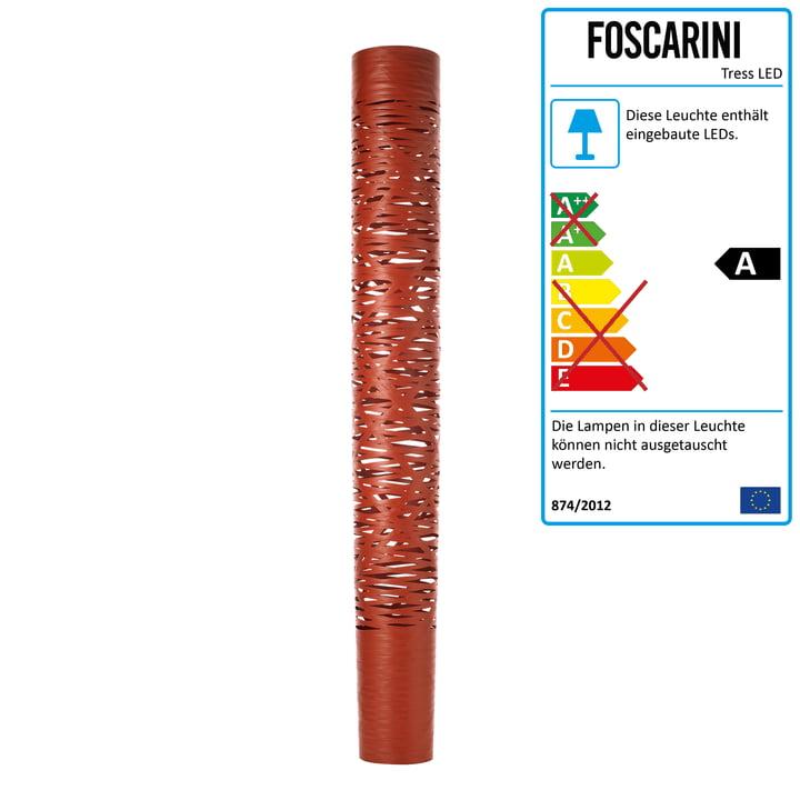 Die Tress LED Stehleuchte grande von Foscarini in purpurrot