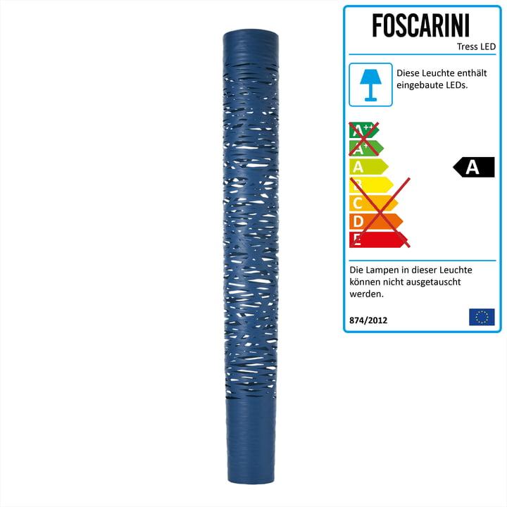 Die Tress LED Stehleuchte grande von Foscarini in indigo
