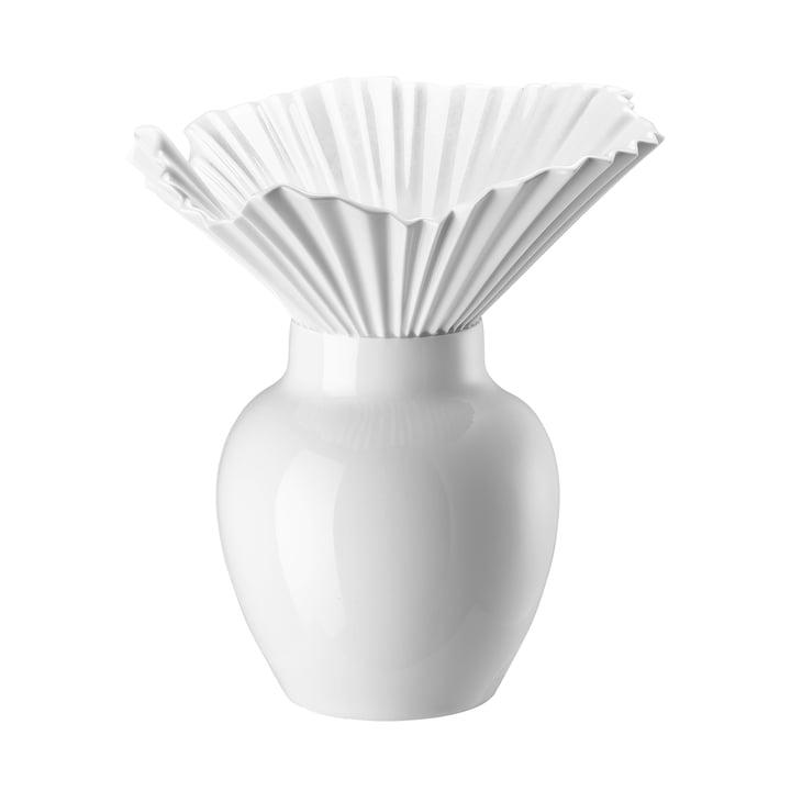 Die Falda Vase von Rosenthal in weiß glasiert