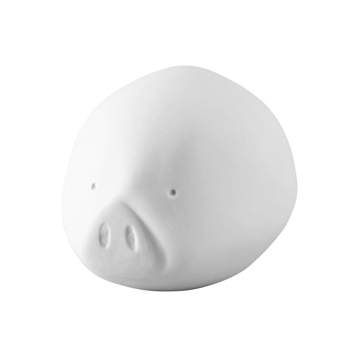 Das Roro Schwein in mittel, weiß von Rosenthal
