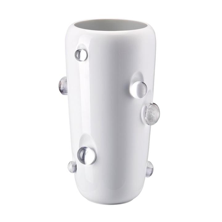 Die Dagg Vase in weiß glasiert von Rosenthal