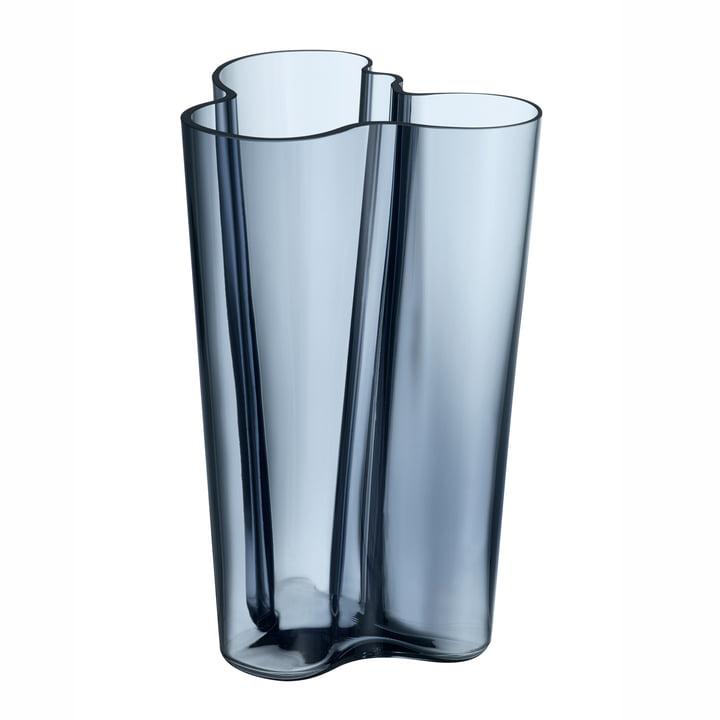 Aalto Vase Finlandia 251 mm von Iittala in Regenblau