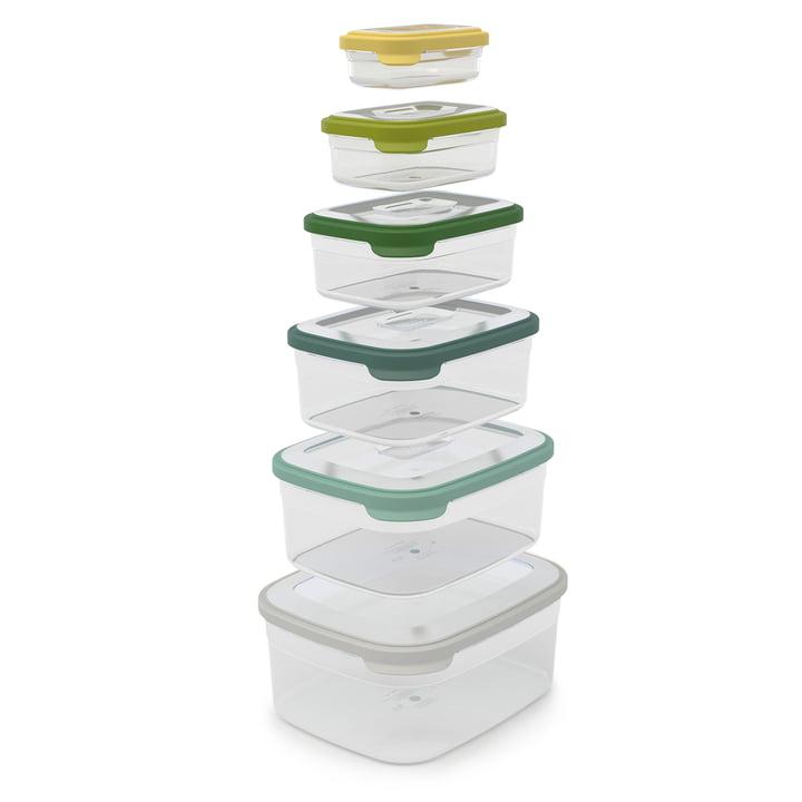 Nest Storage 6tlg. Aufbewahrungsboxen-Set von Joseph Joseph in Opal