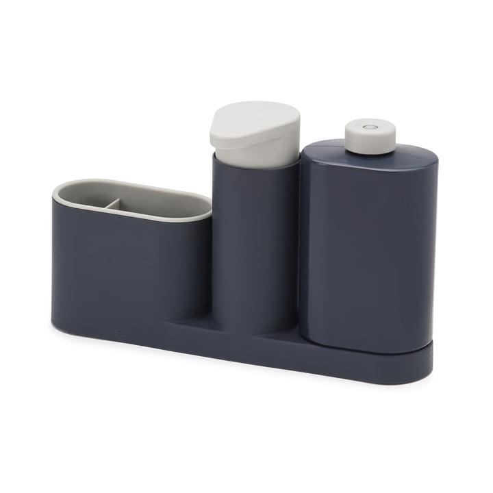 3-teiliges SinkBase Plus Spülbecken-Reinigungs-Set von Joseph Joseph in Grau