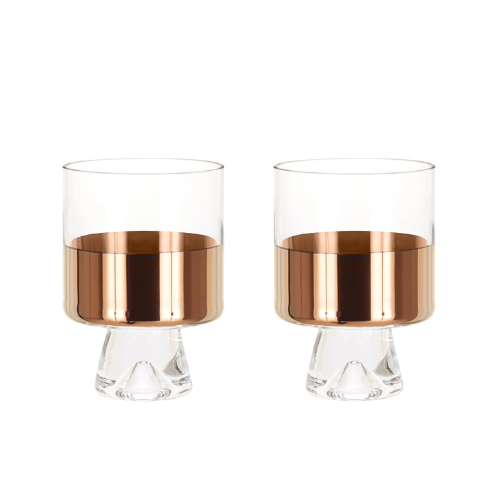 2er-Set Tank Low Ball Glas von Tom Dixon