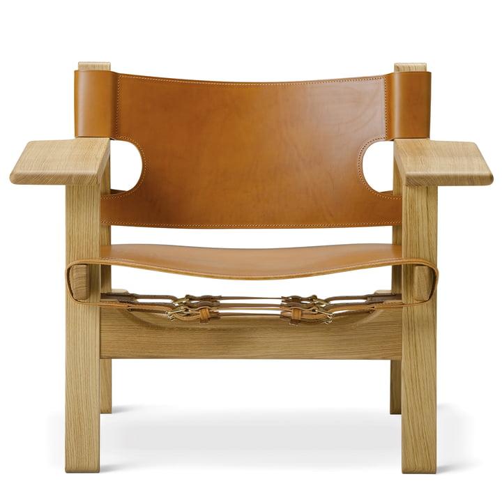 Spanish Chair von Fredericia in Eiche geölt / Leder Cognac