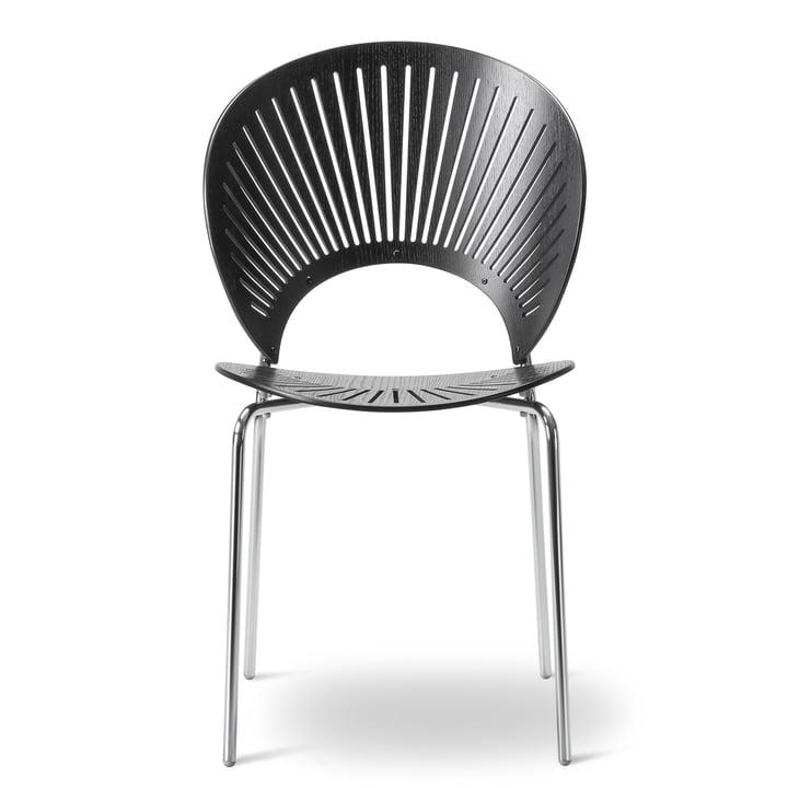 Trinidad Stuhl von Fredericia in Schwarz/Chrom