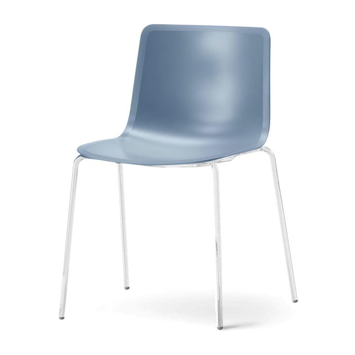 Pato 4 Beine Stuhl von Fredericia in Storm/Chrom