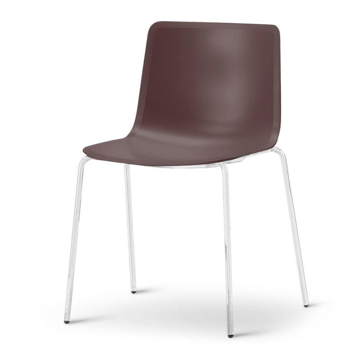 Pato 4 Beine Stuhl von Fredericia in Mountain/Chrom