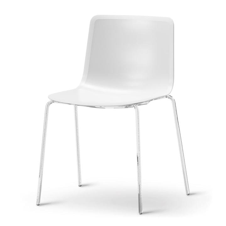 Pato 4 Beine Stuhl von Fredericia in Weiß/Chrom