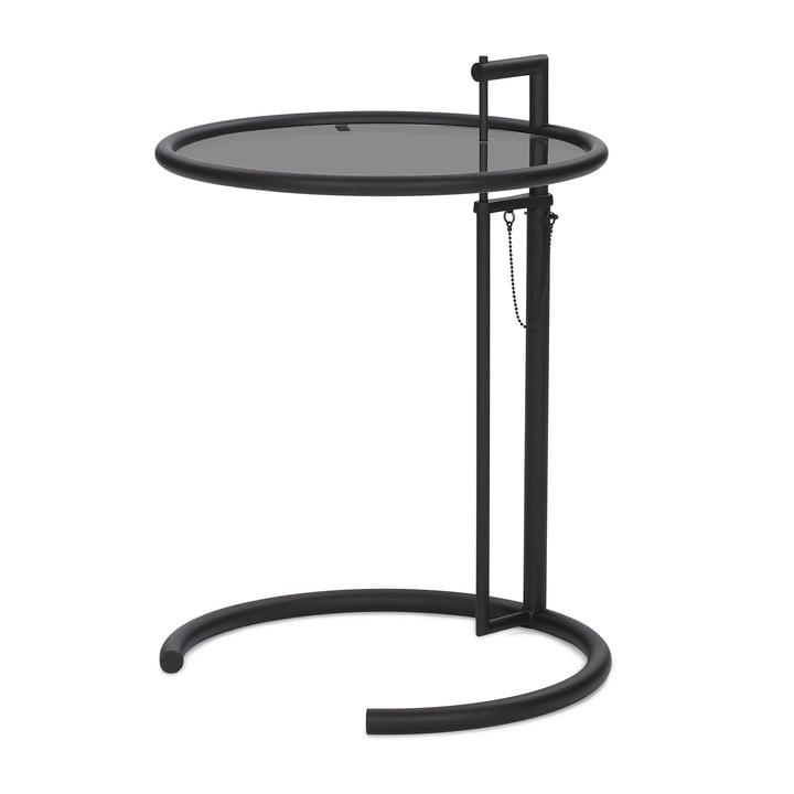 ClassiCon - Adjustable Table E1027, schwarz / Parsolglas grau