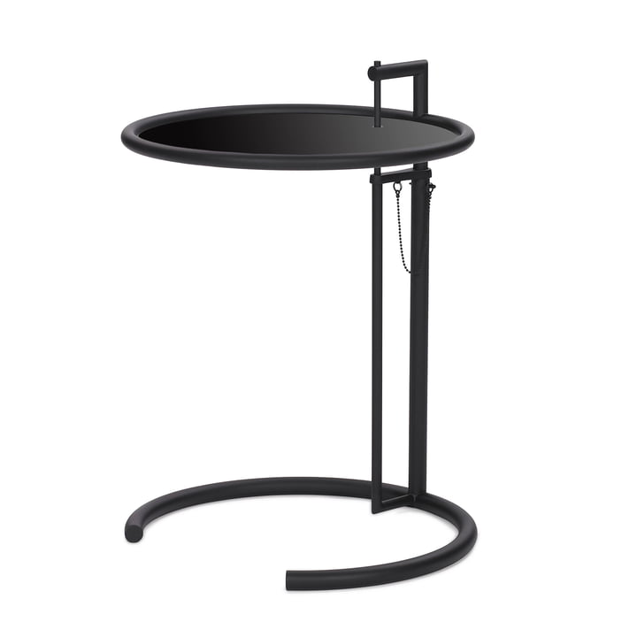 ClassiCon - Adjustable Table E1027, schwarz / Metallplatte schwa