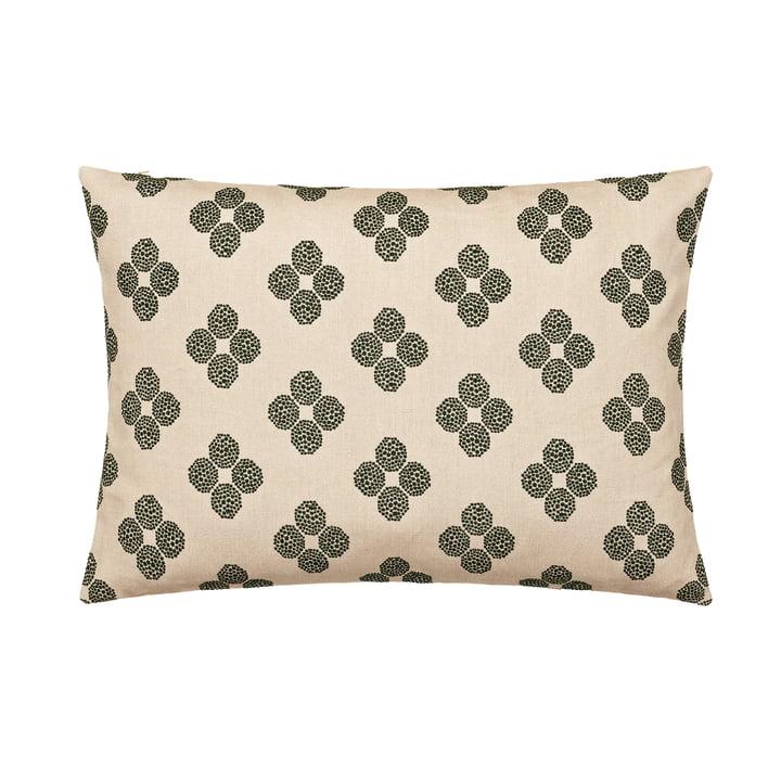 Das Rectangular Cushion, 48 x 73 cm in Hana Beads beige / schwarz von Kvadrat