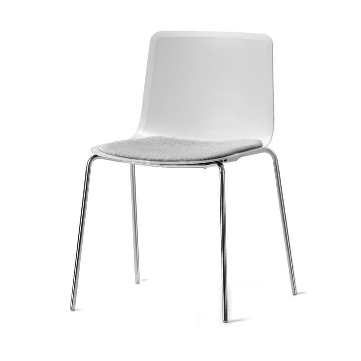Pato 4 Beine Stuhl von Fredericia in Remix/Chrom