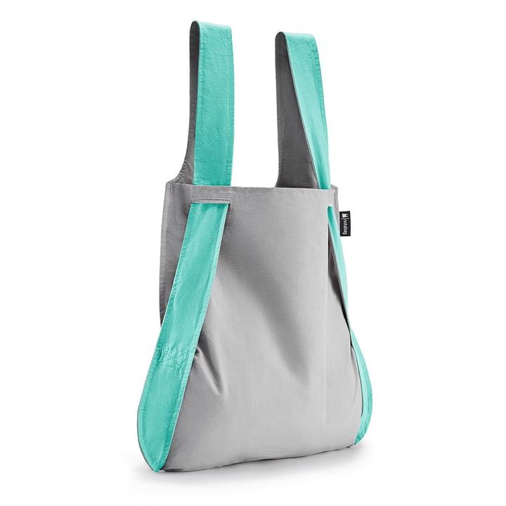 Tasche und Rucksack von Notabag in mint / grau