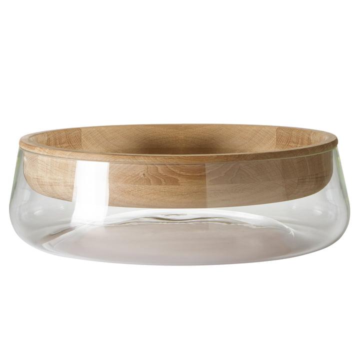Peruse - Double Bowl, large, Eiche geölt / Glas klar