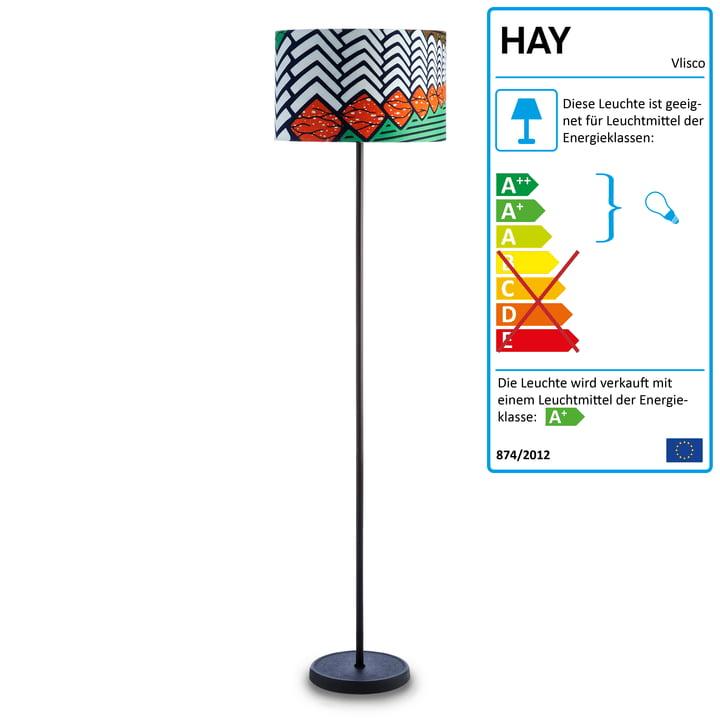 Die Cast Stehlampe von Hay in Vlisco Think