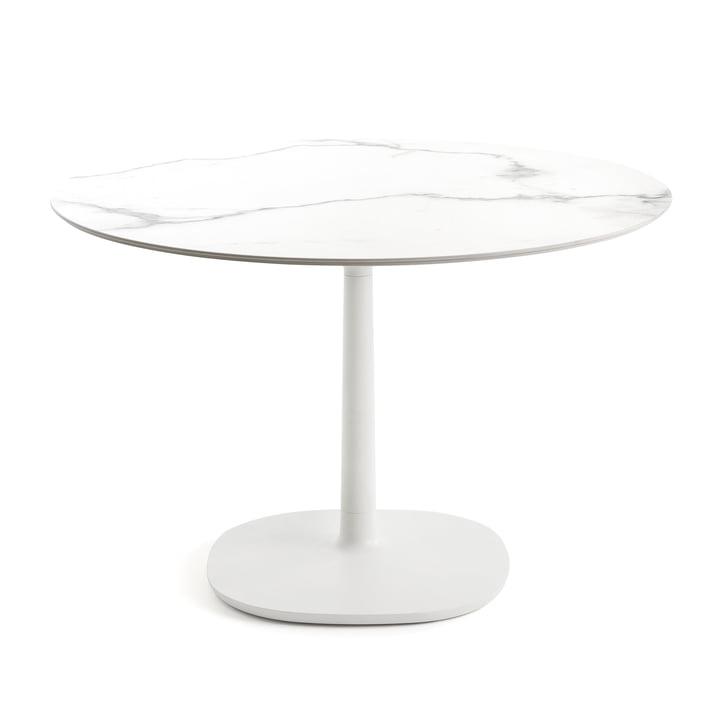 Runder Multiplo Bistrotisch Ø 118 cm von Kartell in Weiß