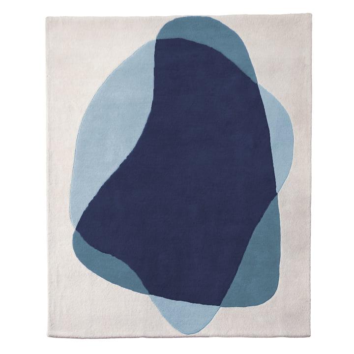 Serge Teppich von Hartô in Blau/ Grau